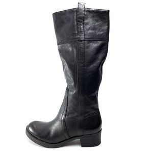 Lucky Brand black leather pull on riding boots